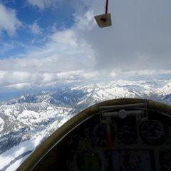 Flugwegposition um 13:18:27: Aufgenommen in der Nähe von Gemeinde St. Leonhard im Pitztal, 6481, Österreich in 2792 Meter