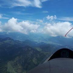 Flugwegposition um 10:20:55: Aufgenommen in der Nähe von Gemeinde Thiersee, 6335, Österreich in 2456 Meter