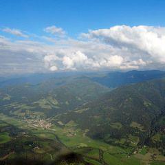 Flugwegposition um 16:18:07: Aufgenommen in der Nähe von St. Martin am Grimming, Österreich in 2008 Meter