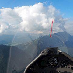 Flugwegposition um 16:18:15: Aufgenommen in der Nähe von St. Martin am Grimming, Österreich in 2004 Meter