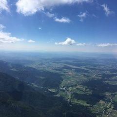Flugwegposition um 08:28:23: Aufgenommen in der Nähe von Kranj, Slowenien in 2256 Meter