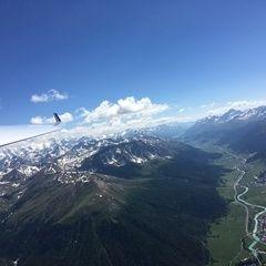 Flugwegposition um 13:50:17: Aufgenommen in der Nähe von Maloja, Schweiz in 3248 Meter