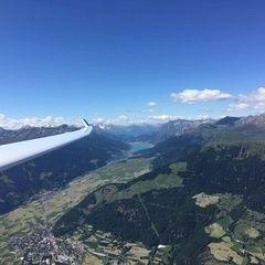 Flugwegposition um 14:27:29: Aufgenommen in der Nähe von 39020 Schluderns, Bozen, Italien in 2653 Meter