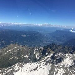 Flugwegposition um 14:51:33: Aufgenommen in der Nähe von 39013 Moos in Passeier, Bozen, Italien in 3492 Meter