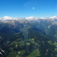 Flugwegposition um 09:35:04: Aufgenommen in der Nähe von Gemeinde Pfarrwerfen, Pfarrwerfen, Österreich in 2209 Meter