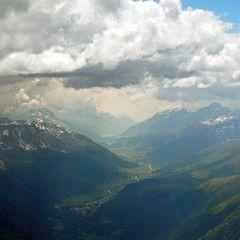 Flugwegposition um 12:59:15: Aufgenommen in der Nähe von Bezirk Inn, Schweiz in 3548 Meter
