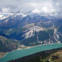 Flugwegposition um 13:24:46: Aufgenommen in der Nähe von 39027 Graun im Vinschgau, Bozen, Italien in 3714 Meter