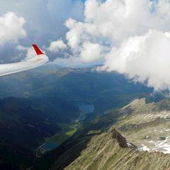 Flugwegposition um 14:49:45: Aufgenommen in der Nähe von Gemeinde Krimml, Österreich in 3166 Meter