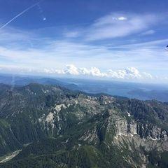 Flugwegposition um 13:38:16: Aufgenommen in der Nähe von 28857 Santa Maria Maggiore, Verbano-Cusio-Ossola, Italien in 2817 Meter