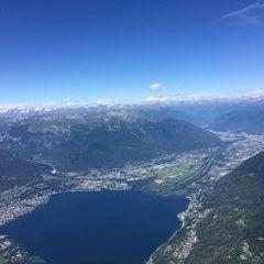 Flugwegposition um 13:47:11: Aufgenommen in der Nähe von Bezirk Locarno, Schweiz in 2627 Meter