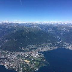 Flugwegposition um 13:47:23: Aufgenommen in der Nähe von Bezirk Locarno, Schweiz in 2648 Meter