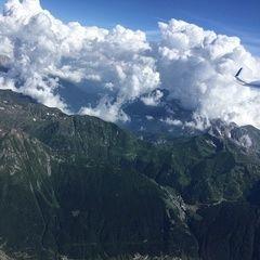 Flugwegposition um 14:45:12: Aufgenommen in der Nähe von 24020 Valbondione BG, Italien in 3829 Meter