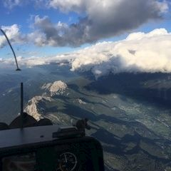 Flugwegposition um 17:48:58: Aufgenommen in der Nähe von Gemeinde Kötschach-Mauthen, Österreich in 3649 Meter