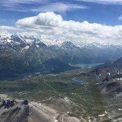 Flugwegposition um 12:54:04: Aufgenommen in der Nähe von Maloja, Schweiz in 3334 Meter