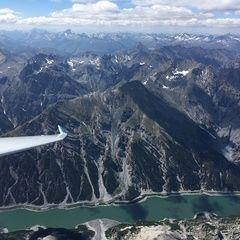 Flugwegposition um 13:15:39: Aufgenommen in der Nähe von 23030 Livigno, Sondrio, Italien in 3685 Meter