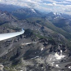 Flugwegposition um 13:15:54: Aufgenommen in der Nähe von 23030 Livigno, Sondrio, Italien in 3687 Meter