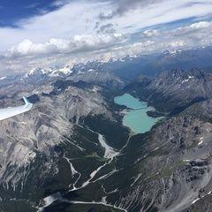 Flugwegposition um 13:16:02: Aufgenommen in der Nähe von 23030 Livigno, Sondrio, Italien in 3728 Meter
