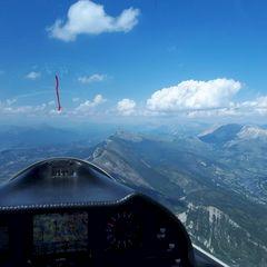 Flugwegposition um 13:17:40: Aufgenommen in der Nähe von Département Alpes-de-Haute-Provence, Frankreich in 2149 Meter