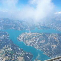 Flugwegposition um 12:42:07: Aufgenommen in der Nähe von Département Alpes-de-Haute-Provence, Frankreich in 3085 Meter