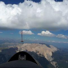 Flugwegposition um 15:12:58: Aufgenommen in der Nähe von Département Hautes-Alpes, Frankreich in 2785 Meter