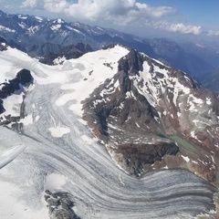 Flugwegposition um 14:12:16: Aufgenommen in der Nähe von 39040 Ratschings, Bozen, Italien in 3627 Meter
