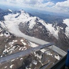 Verortung via Georeferenzierung der Kamera: Aufgenommen in der Nähe von Gemeinde Sölden, Österreich in 4100 Meter
