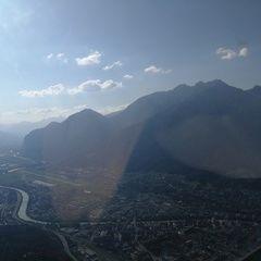 Flugwegposition um 16:04:44: Aufgenommen in der Nähe von Innsbruck, Österreich in 1386 Meter