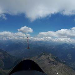 Flugwegposition um 11:24:26: Aufgenommen in der Nähe von Département Hautes-Alpes, Frankreich in 3183 Meter
