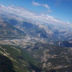 Flugwegposition um 11:37:21: Aufgenommen in der Nähe von Département Hautes-Alpes, Frankreich in 3201 Meter