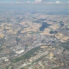 Verortung via Georeferenzierung der Kamera: Aufgenommen in der Nähe von Unterfranken, Deutschland in 2100 Meter