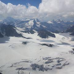 Flugwegposition um 13:07:22: Aufgenommen in der Nähe von Visp, Schweiz in 3810 Meter