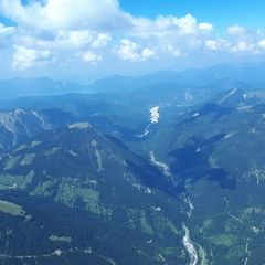 Flugwegposition um 12:34:55: Aufgenommen in der Nähe von Gemeinde Vomp, Österreich in 2848 Meter
