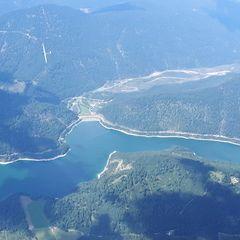 Flugwegposition um 13:02:33: Aufgenommen in der Nähe von Bad Tölz-Wolfratshausen, Deutschland in 2815 Meter