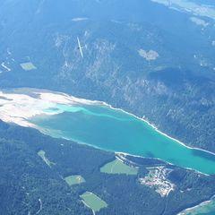 Flugwegposition um 13:02:37: Aufgenommen in der Nähe von Bad Tölz-Wolfratshausen, Deutschland in 2815 Meter