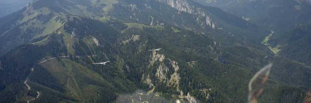 Flugwegposition um 10:29:21: Aufgenommen in der Nähe von Hall, 8911 Hall, Österreich in 2408 Meter