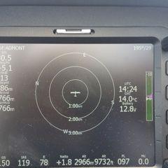 Flugwegposition um 14:24:56: Aufgenommen in der Nähe von Pürgg-Trautenfels, Österreich in 2957 Meter