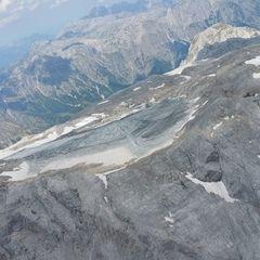 Flugwegposition um 12:43:45: Aufgenommen in der Nähe von Gemeinde Dienten am Hochkönig, Dienten am Hochkönig, Österreich in 2899 Meter