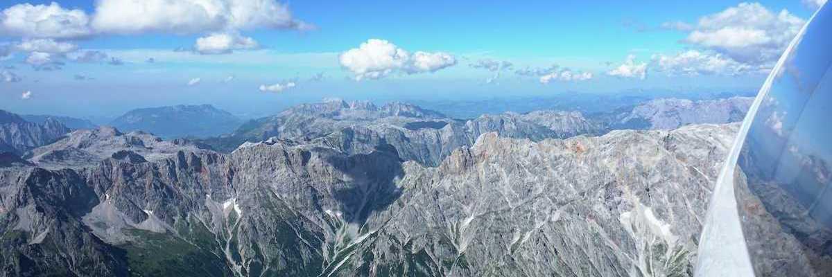 Flugwegposition um 14:19:57: Aufgenommen in der Nähe von Gemeinde Dienten am Hochkönig, Dienten am Hochkönig, Österreich in 3204 Meter
