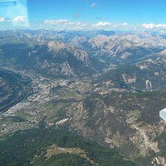 Flugwegposition um 14:08:44: Aufgenommen in der Nähe von Département Hautes-Alpes, Frankreich in 3246 Meter