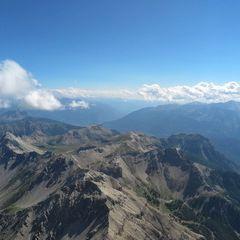 Flugwegposition um 14:11:22: Aufgenommen in der Nähe von Département Hautes-Alpes, Frankreich in 3377 Meter