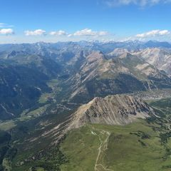 Flugwegposition um 14:49:10: Aufgenommen in der Nähe von Département Hautes-Alpes, Frankreich in 3287 Meter