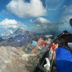 Flugwegposition um 15:05:59: Aufgenommen in der Nähe von Département Hautes-Alpes, Frankreich in 3444 Meter