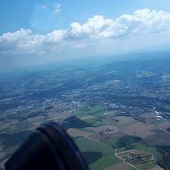 Flugwegposition um 11:19:44: Aufgenommen in der Nähe von Marktgemeinde Sierning, Sierning, Österreich in 1315 Meter