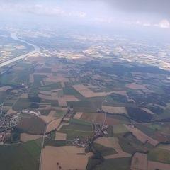 Flugwegposition um 13:19:15: Aufgenommen in der Nähe von Gemeinde Mörschwang, Österreich in 1696 Meter