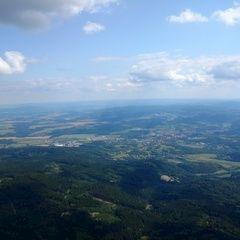Flugwegposition um 12:38:59: Aufgenommen in der Nähe von Okres Český Krumlov, Tschechien in 1534 Meter