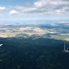 Flugwegposition um 12:39:11: Aufgenommen in der Nähe von Okres Český Krumlov, Tschechien in 1579 Meter