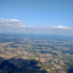 Flugwegposition um 14:33:22: Aufgenommen in der Nähe von Schwandorf, Deutschland in 1910 Meter
