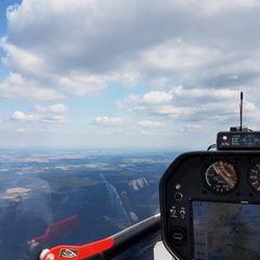 Flugwegposition um 13:30:25: Aufgenommen in der Nähe von Tirschenreuth, Deutschland in 1544 Meter