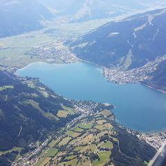 Flugwegposition um 12:43:52: Aufgenommen in der Nähe von Gemeinde Zell am See, 5700 Zell am See, Österreich in 2551 Meter