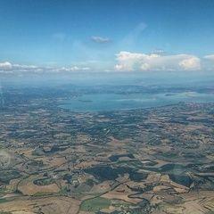 Flugwegposition um 14:22:16: Aufgenommen in der Nähe von 53045 Montepulciano, Siena, Italien in 1856 Meter